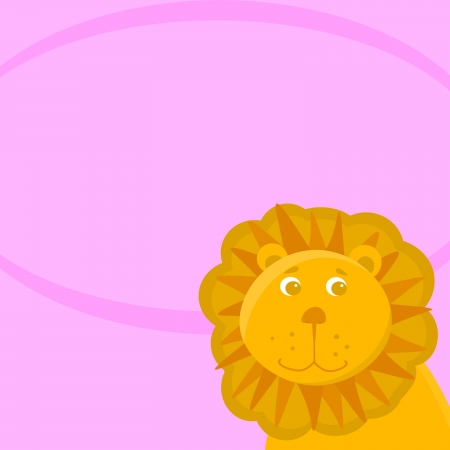 illustration of Lion cartoon  illustration