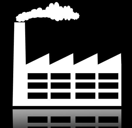 batiment industriel: Usine de construction industrielle et l'ic�ne de centrales �lectriques