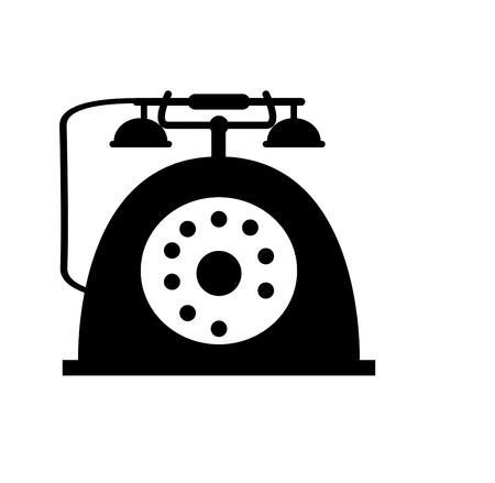 telephone switchboard: Retro telephone icon isolated