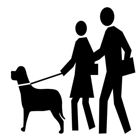 figure icon walking a dog  Stock Photo - 20752777