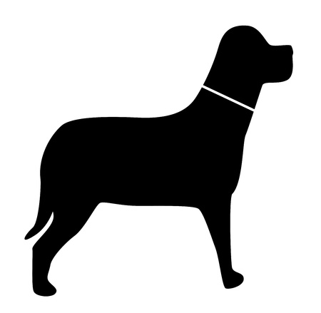 simplified: icons with animal dog silhouettes  Stock Photo