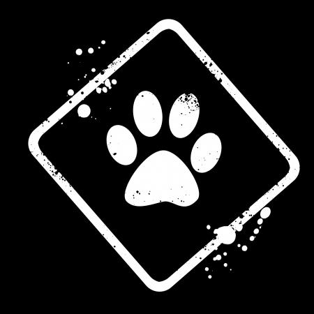 animal track: animal footprints  Stock Photo