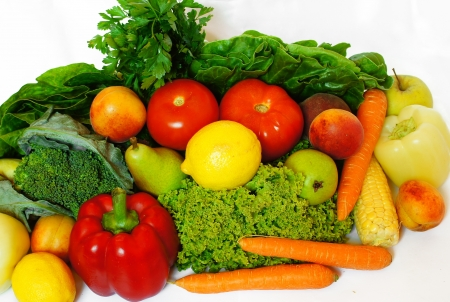 veg: vegetables and fruits  Stock Photo