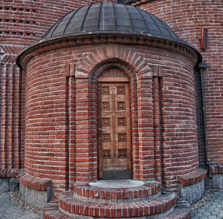 Entrance to the church  photo