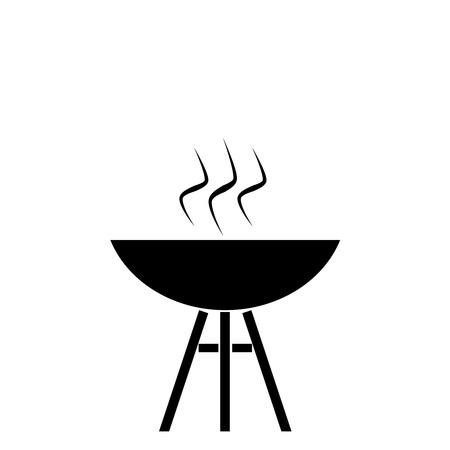 bbq grill: Silhouette bbq Stock Photo