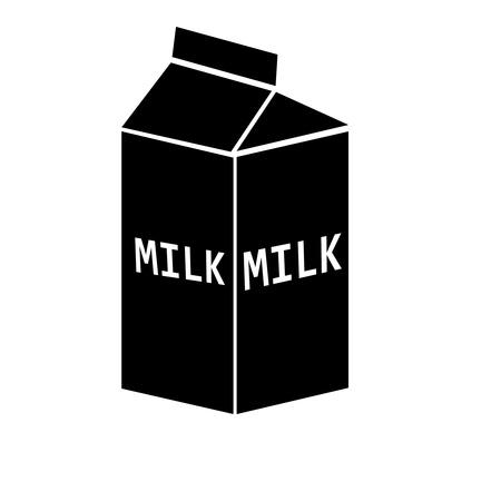 pasteurization: milk silhouette