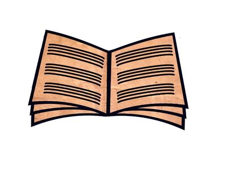 open book icon Stock Photo - 22121498