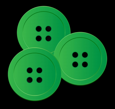 darn: green buttons  Stock Photo