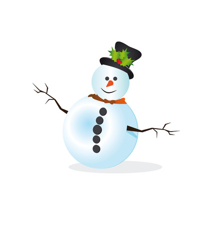 Christmas Greeting Card with snowman photo