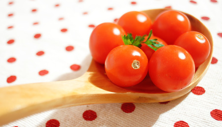 Ripe Fresh Cherry Tomatoes  photo