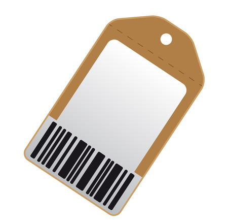 procent: Blank price tag with bar code