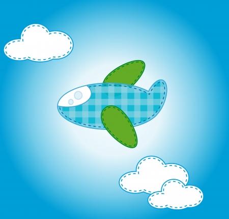 plane cartoon: plane cartoon sticker  Stock Photo