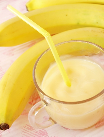 fresh fruit milk shake banana  photo