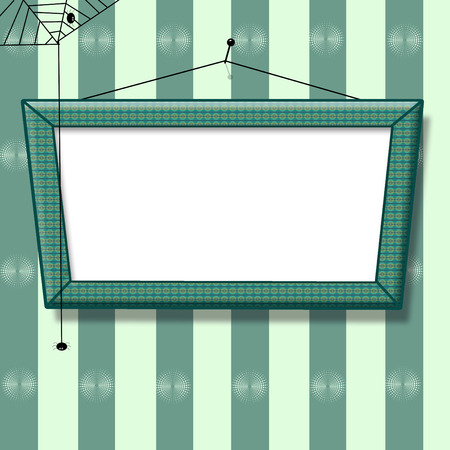 blank picture frame on the wall old fashion  Stock Photo - 25676936