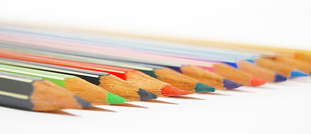 colorful pen in a row photo