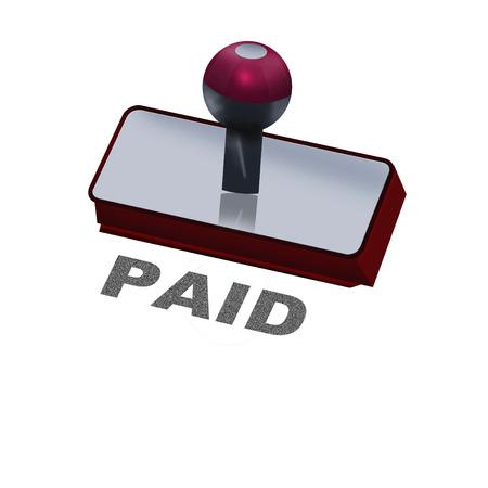 soumis: tampon en caoutchouc avec le mot payé Banque d'images
