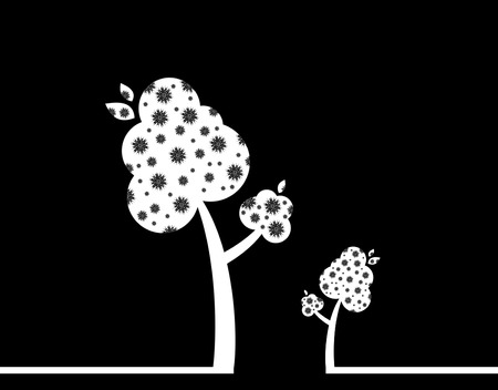 oxigen: silhouette of a cute trees