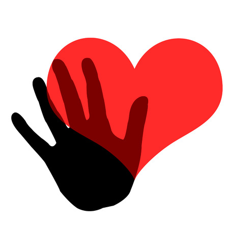 hand holding a heart icon  photo