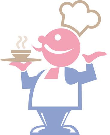 caterer: waiter holding serving tray