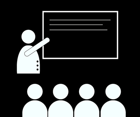 employment elementary school: teaching lesson in classroom - back to school Stock Photo