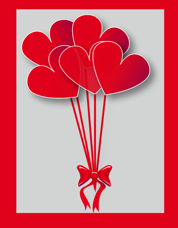 complimentary: color party baloons heart shaped