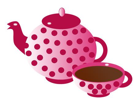 Silhouette of teapot  photo