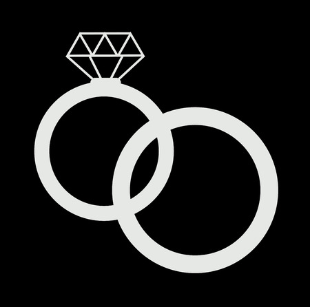 wedding rings icon  photo