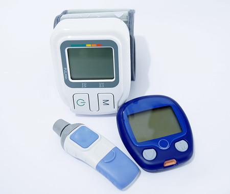 Blood pressure device and device for measuring blood sugar level photo