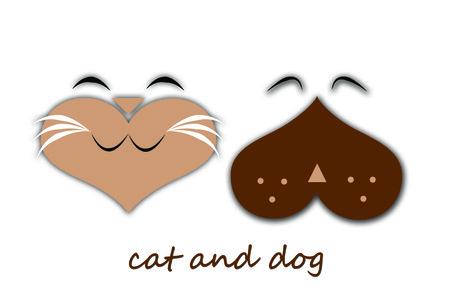animal cruelty: cat and dog cartoon