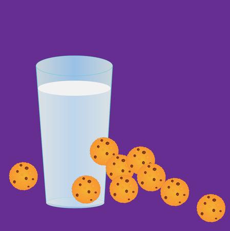 milk and cookies: Milk and cookies Stock Photo