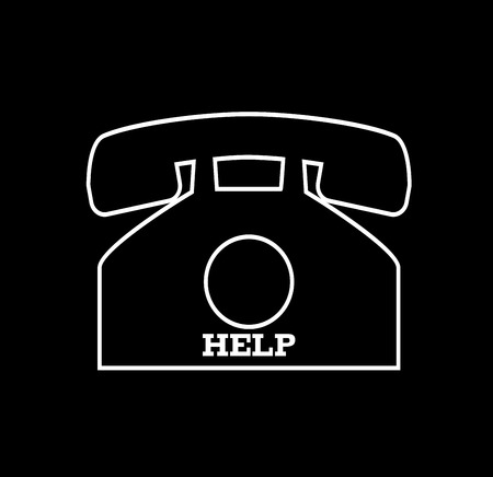 numpad: help phone Stock Photo