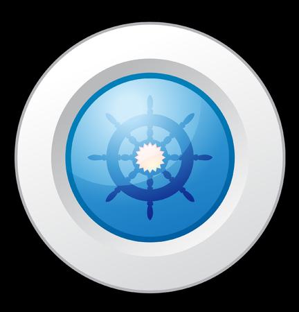 piloting: rudder button Stock Photo