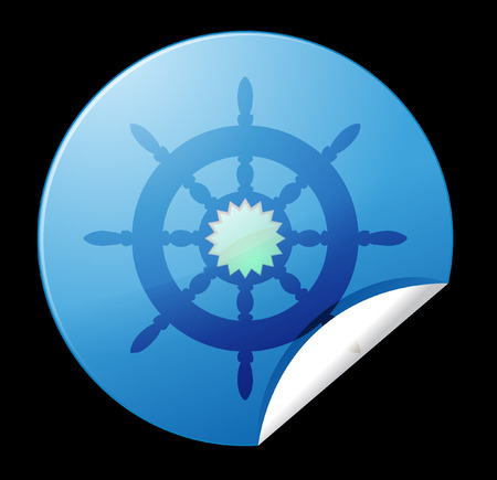 schooner: rudder icon Stock Photo