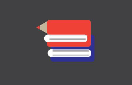 icone: Library. E-book idea icon. School, University Knowledge.education concept Stock Photo