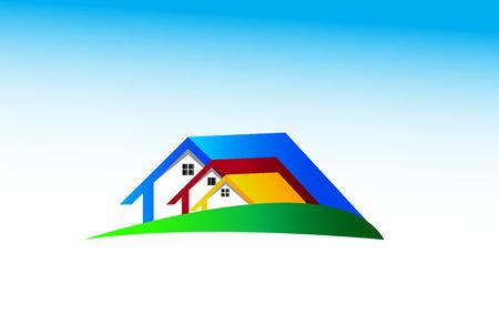house logo: Real Estate Logo Design. House Logo Design.