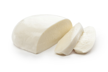 Mozzarella on white background