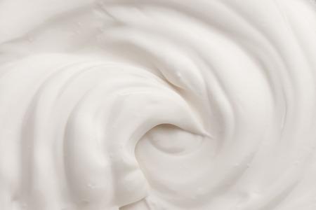 クリームの白のテクスチャ 写真素材