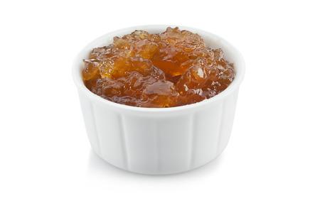 marmalade: gooseberry orange marmalade isolated on white background  Stock Photo