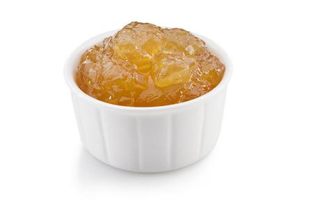 ginger lemon marmalade isolated on white background