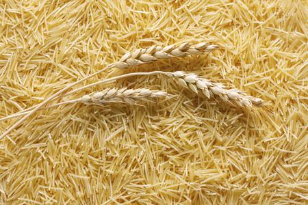 vermicelli: Dry pasta vermicelli background
