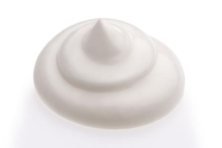 Cream isolated on white background