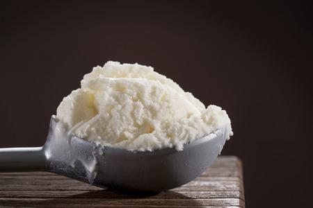 Vanilla ice cream scoop macro