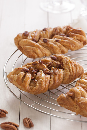 sugar maple: Danish pastry maple pecan with nuts and maple syrup