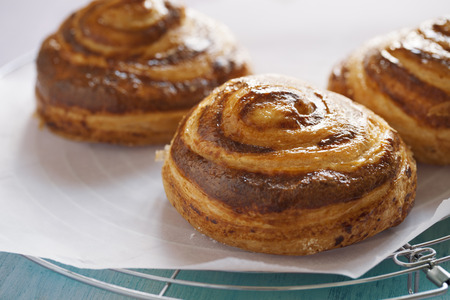 danish pastry close up sweet bun