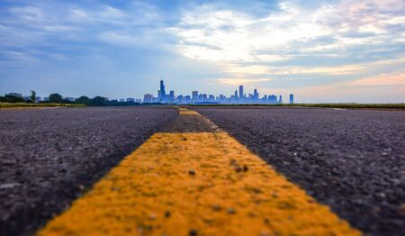 Chicago skyline From bike path