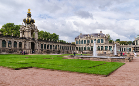 Famous Zwinger palace in Dresden, Saxrony, Germany. October 5, 2016