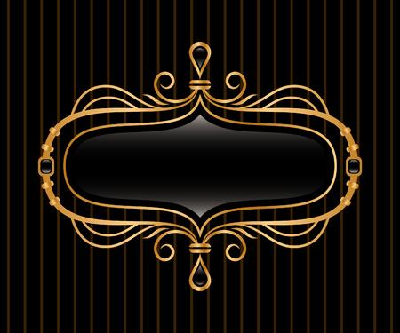 eleganten goldenen Rahmen