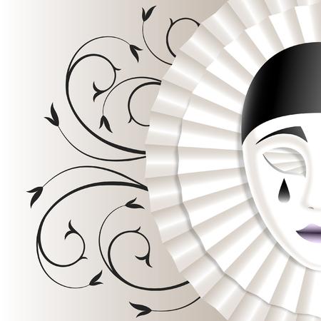 jabot: sad mask with black teardrop