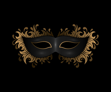 black mask with golden ornament
