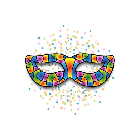 Stylized carnival mask Illustration